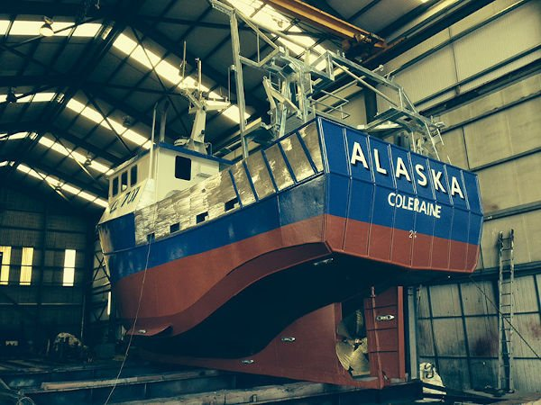 mfv alaska mevagh boatyard refurbishment